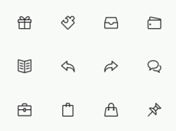 Simple Line Icons (Free PSD)