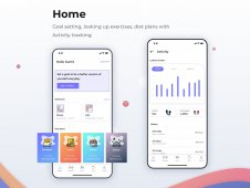 Home: dashboard of a fitness a