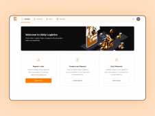 Delivery and logistics web app