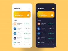 Crypto Wallet Mobile App Conce