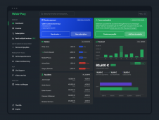 New Widr Pay dashboard (dark v