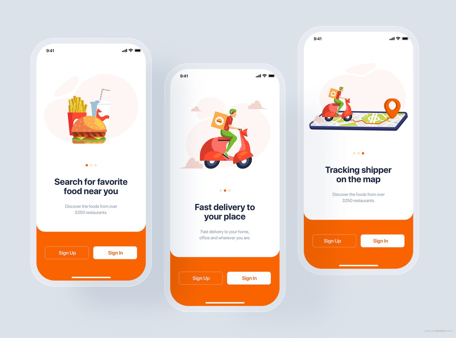 Onboarding - Food Delivery UI Kit