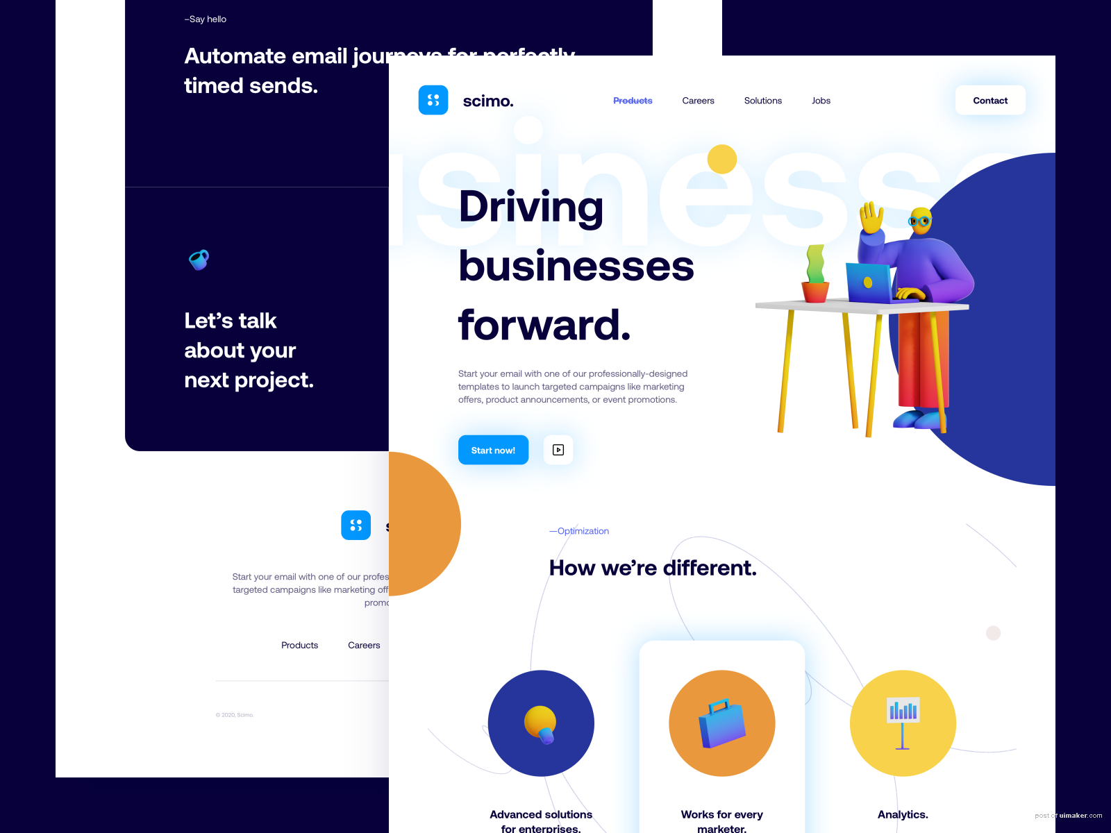 Scimo Landing Page