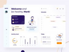 Actin medic UX/UI dashboard de