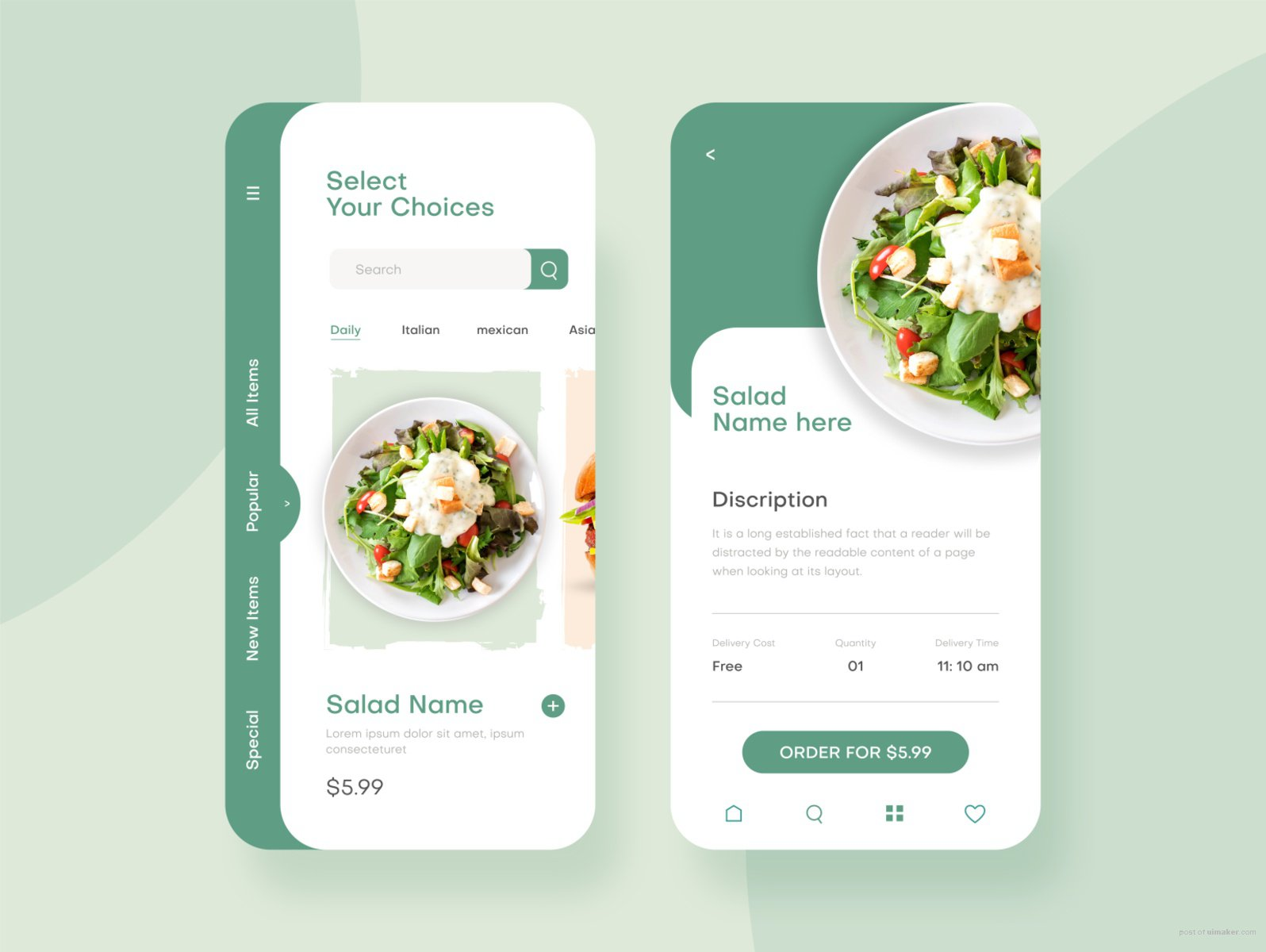 Food Delivery - Mobile App UI