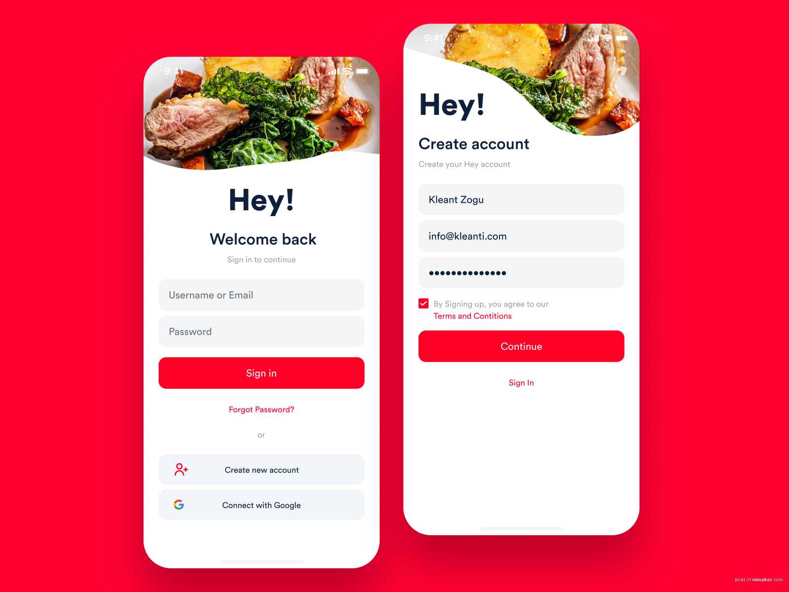 Hey! Food Delivery App