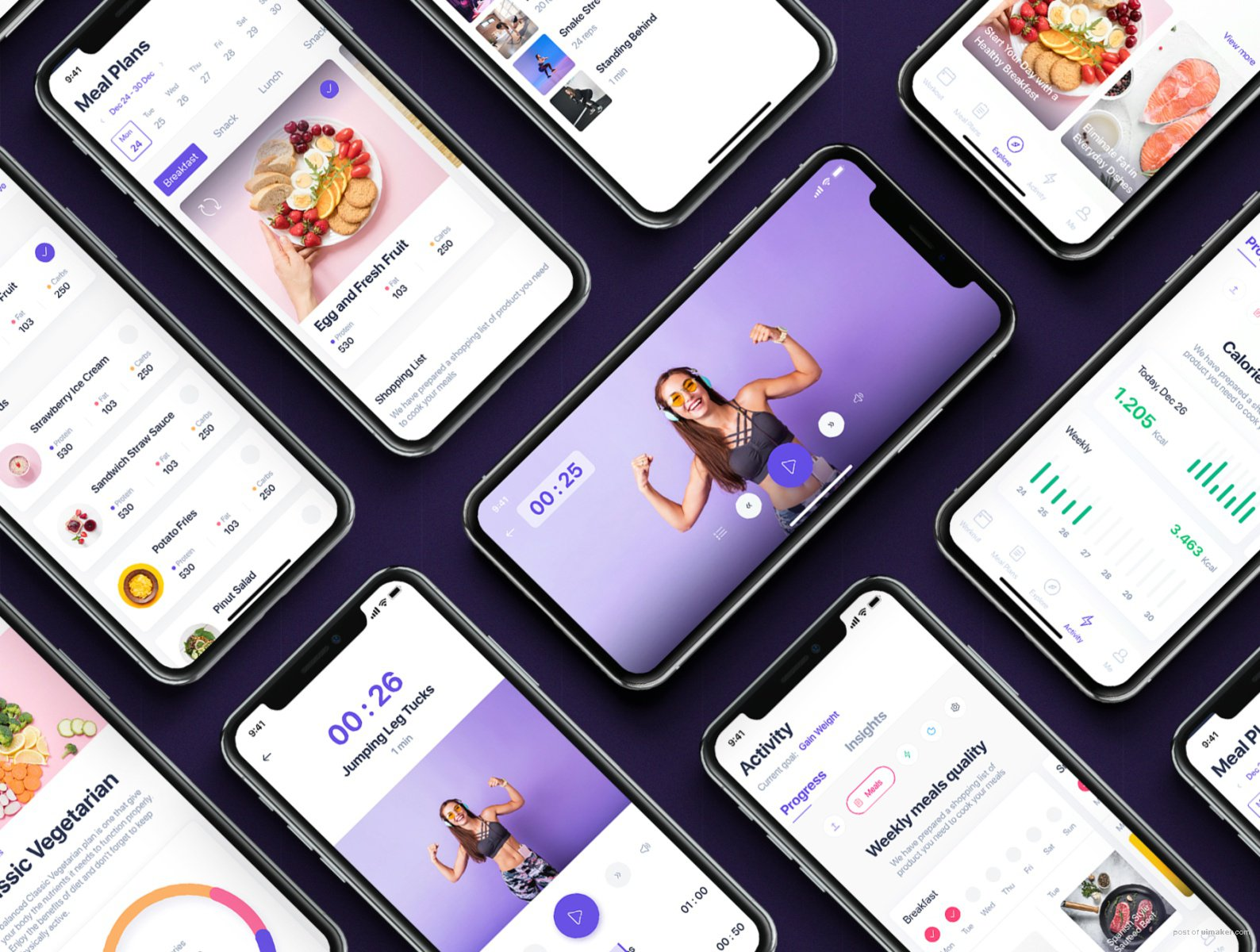 Fitbox - Workouts & Meal Planner UI Kit
