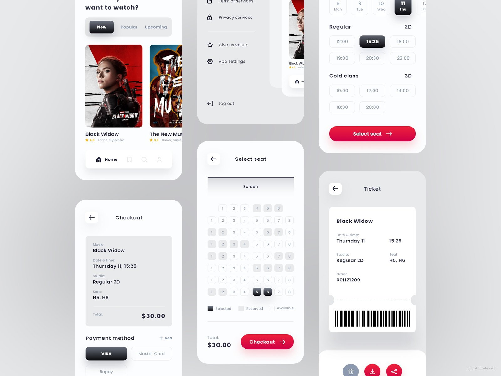 Movie App Ticket Booking Concept