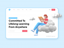 Educational Landing Page Heade