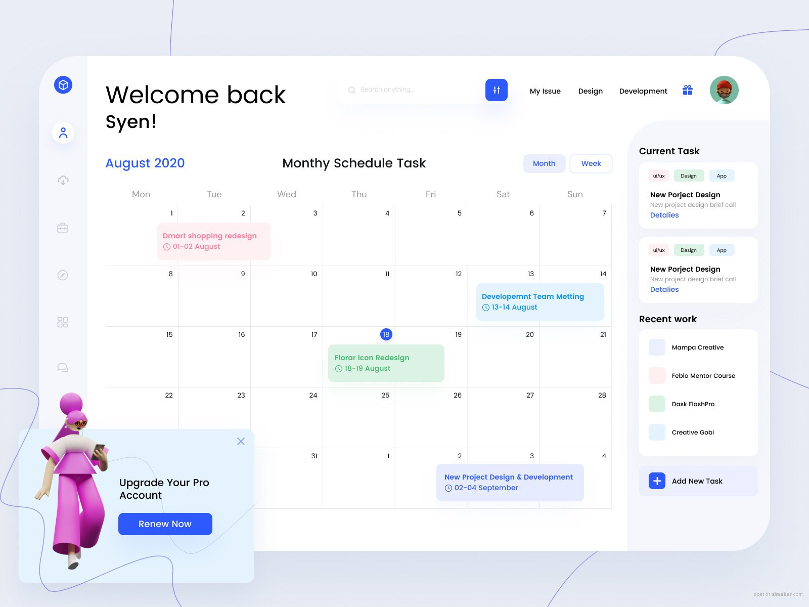 Task Management Dashboard Concept